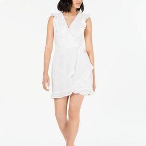 BarIII Eyelet ruffle mini Dress